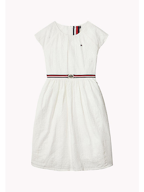 TOMMY HILFIGER Jolie robe en broderie anglaise - BRIGHT WHITE - TOMMY HILFIGER Filles - image principale
