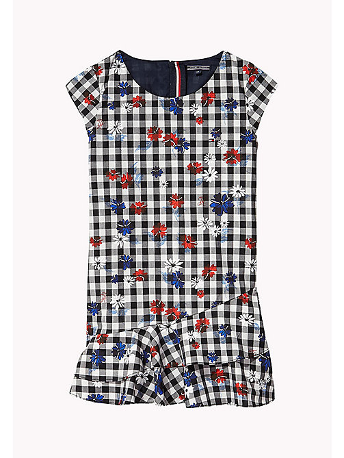 TOMMY HILFIGER Gingham Floral Dress - TOMMY BLACK - TOMMY HILFIGER Girls - main image