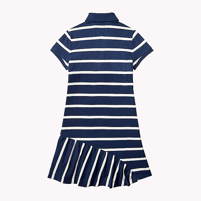TOMMY HILFIGER Quirky Stripe Polo Dress - FLAME SCARLET - TOMMY HILFIGER Kids - detail image 1