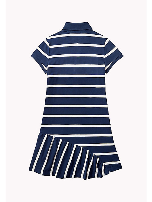 TOMMY HILFIGER Quirky Stripe Polo Dress - BRIGHT WHITE - TOMMY HILFIGER Girls - detail image 1