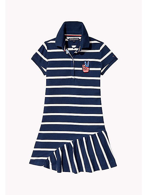 TOMMY HILFIGER Quirky Stripe Polo Dress - BRIGHT WHITE - TOMMY HILFIGER Girls - main image