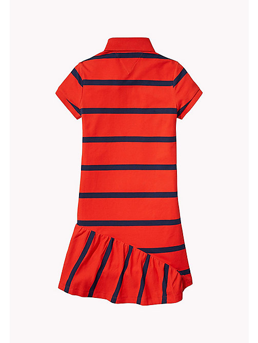 TOMMY HILFIGER Quirky Stripe Polo Dress - FLAME SCARLET - TOMMY HILFIGER Girls - detail image 1