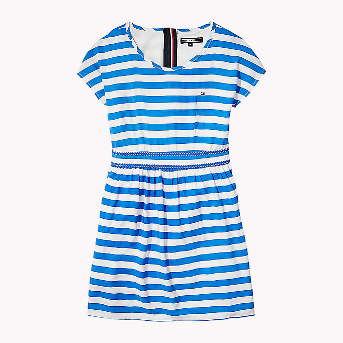 TOMMY HILFIGER Casual Stripe Dress - FLAME SCARLET - TOMMY HILFIGER Kids - main image