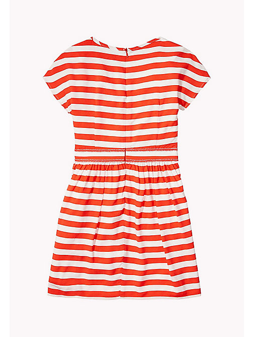 TOMMY HILFIGER Casual Stripe Dress - FLAME SCARLET - TOMMY HILFIGER Girls - detail image 1