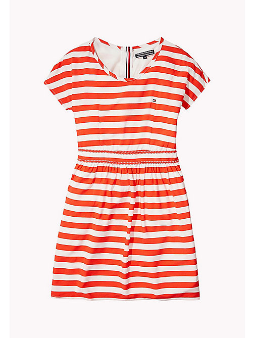 TOMMY HILFIGER Casual Stripe Dress - FLAME SCARLET - TOMMY HILFIGER Girls - main image
