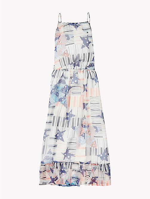 TOMMY HILFIGER Faded Star Print Maxi Dress - BRIGHT WHITE - TOMMY HILFIGER Girls - detail image 1