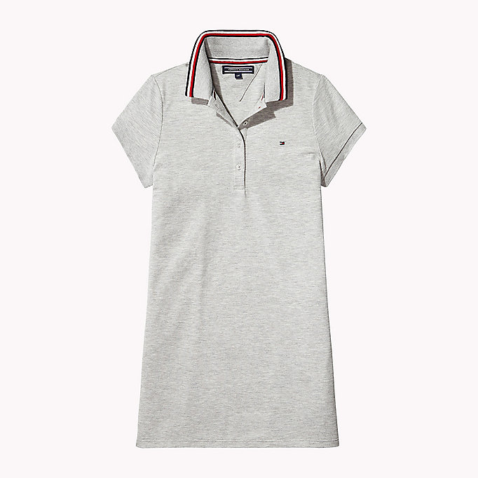 TOMMY HILFIGER Polo Collar Dress - BLACK IRIS - TOMMY HILFIGER Kids - main image