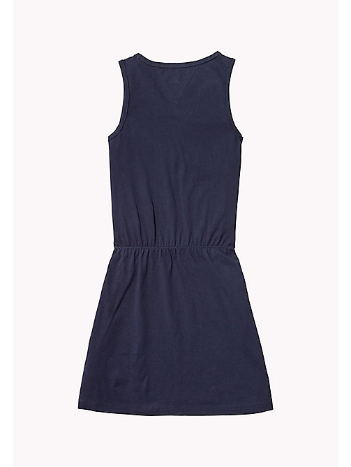 TOMMY HILFIGER Sleeveless Logo Dress - BLACK IRIS - TOMMY HILFIGER Girls - detail image 1