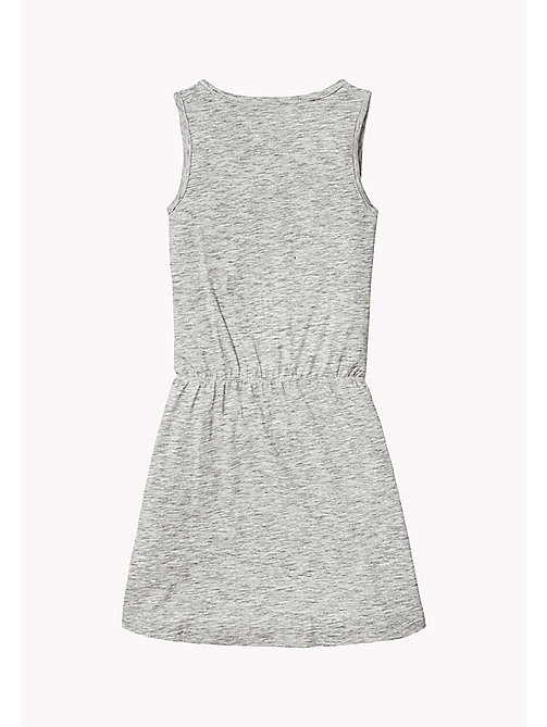 TOMMY HILFIGER Sleeveless Logo Dress - MODERN GREY HEATHER -  Girls - detail image 1