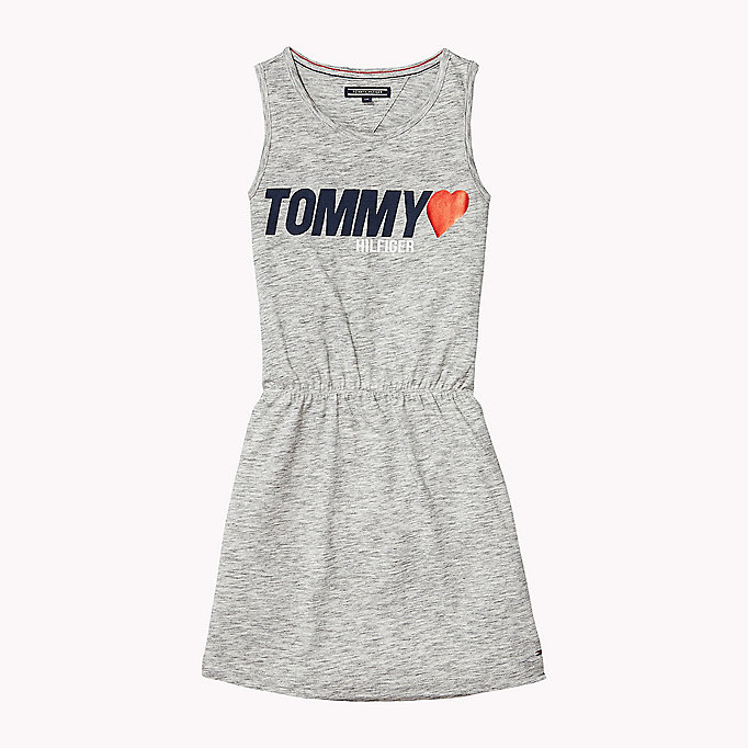TOMMY HILFIGER Sleeveless Logo Dress - BLACK IRIS - TOMMY HILFIGER Kinder - main image