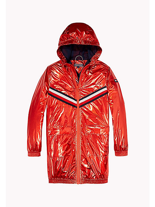 TOMMY HILFIGER Metallic Hooded Jacket - FLAME SCARLET - TOMMY HILFIGER Coats & Jackets - detail image 1
