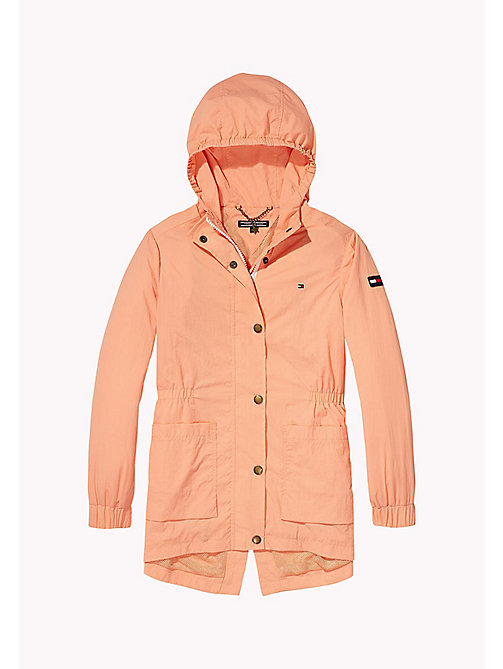 TOMMY HILFIGER Taffeta Hooded Parka - PAPAYA PUNCH - TOMMY HILFIGER Girls - detail image 1