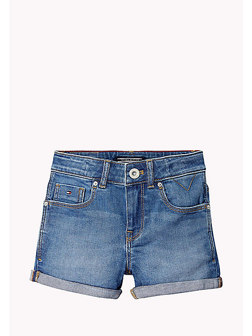 TOMMY HILFIGER Turn Up Shorts - CLIFTON MID BLUE STRETCH - TOMMY HILFIGER Broeken & Rokken - detail image 1