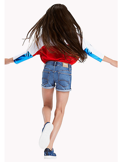 TOMMY HILFIGER Turn Up Shorts - CLIFTON MID BLUE STRETCH - TOMMY HILFIGER Trousers, Shorts & Skirts - main image