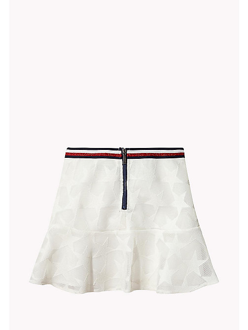 TOMMY HILFIGER Star Embroidered Mesh Skirt - BRIGHT WHITE - TOMMY HILFIGER Trousers, Shorts & Skirts - detail image 1