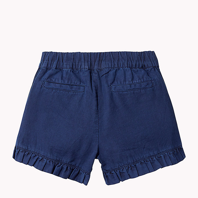 TOMMY HILFIGER Frill Hem Shorts - PAPAYA PUNCH - TOMMY HILFIGER Kids - detail image 1