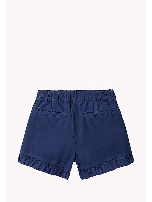 TOMMY HILFIGER Frill Hem Shorts - BLACK IRIS - TOMMY HILFIGER Trousers & Skirts - detail image 1