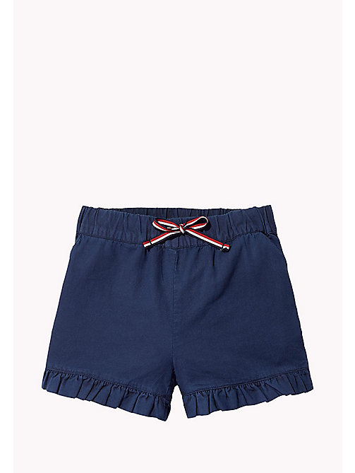 TOMMY HILFIGER Frill Hem Shorts - BLACK IRIS - TOMMY HILFIGER Trousers & Skirts - main image