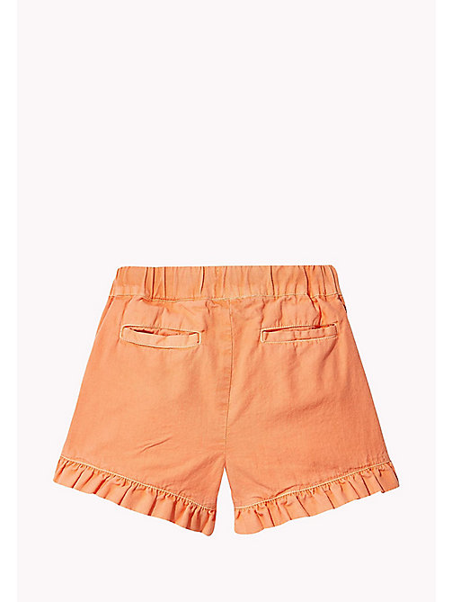 TOMMY HILFIGER Frill Hem Shorts - PAPAYA PUNCH - TOMMY HILFIGER Girls - detail image 1