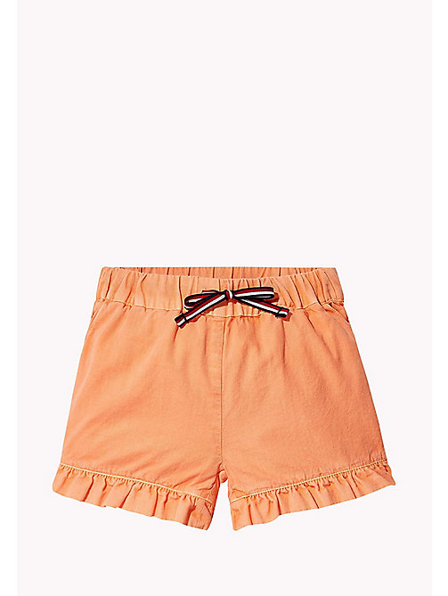 TOMMY HILFIGER Frill Hem Shorts - PAPAYA PUNCH - TOMMY HILFIGER Girls - main image