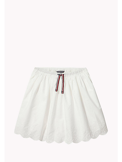 TOMMY HILFIGER Drawstring Skirt - BRIGHT WHITE - TOMMY HILFIGER Girls - main image
