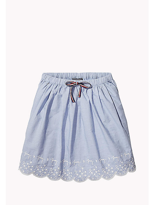 TOMMY HILFIGER Drawstring Skirt - BRIGHT COBALT - TOMMY HILFIGER Girls - main image