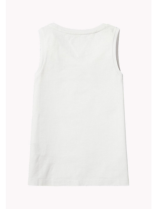 TOMMY HILFIGER Retro Logo Tank Top - BRIGHT WHITE - TOMMY HILFIGER Девочки - подробное изображение 1