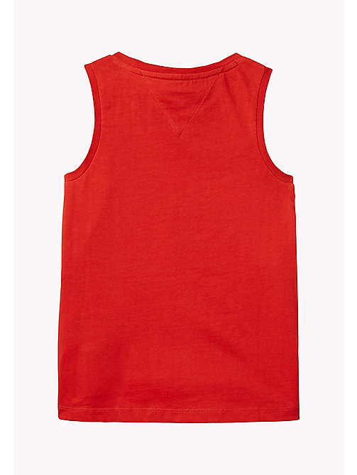 TOMMY HILFIGER Retro Logo Tank Top - FLAME SCARLET - TOMMY HILFIGER Girls - detail image 1