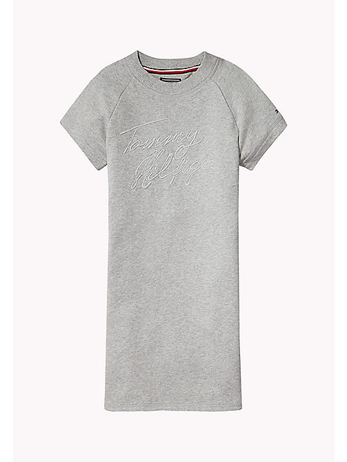 TOMMY HILFIGER Cotton Jumper Dress - LIGHT GREY HTR - TOMMY HILFIGER Girls - main image