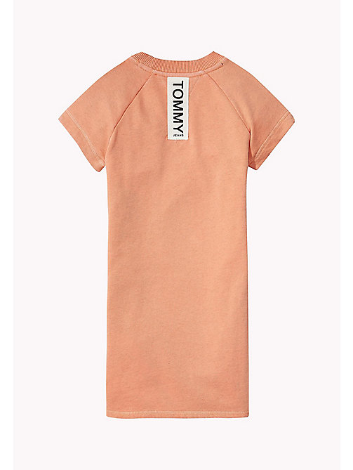 TOMMY HILFIGER Cotton Jumper Dress - PAPAYA PUNCH - TOMMY HILFIGER Girls - detail image 1