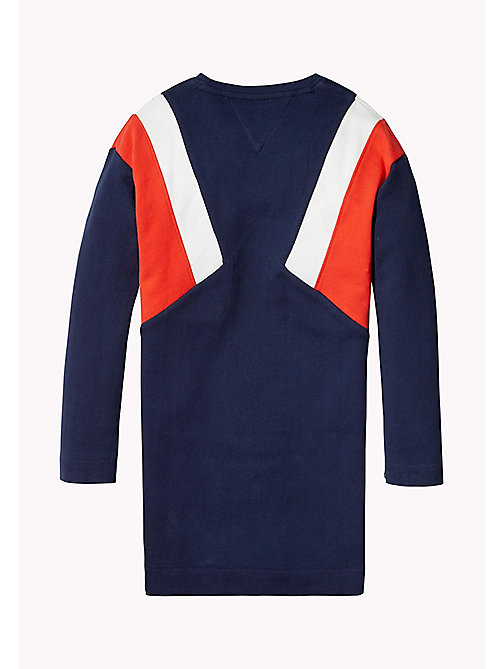 TOMMY HILFIGER Colour-Blocked Jumper Dress - BLACK IRIS - TOMMY HILFIGER Girls - detail image 1