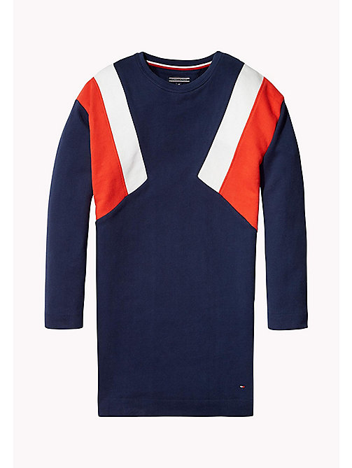 TOMMY HILFIGER Colour-Blocked Jumper Dress - BLACK IRIS - TOMMY HILFIGER Girls - main image