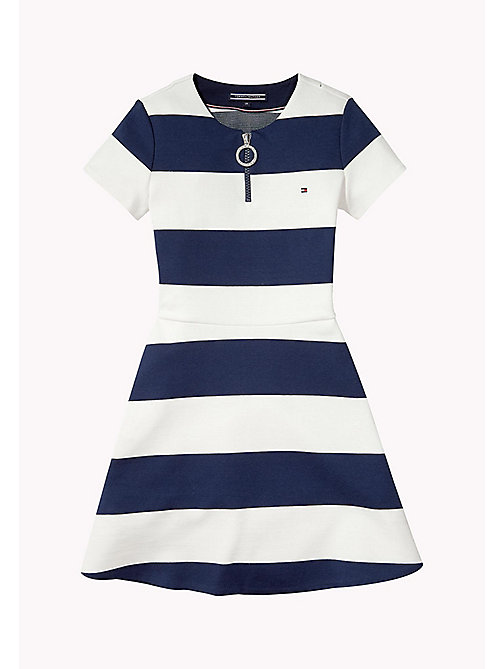 TOMMY HILFIGER Block Stripe Dress - BLACK IRIS - TOMMY HILFIGER Girls - main image