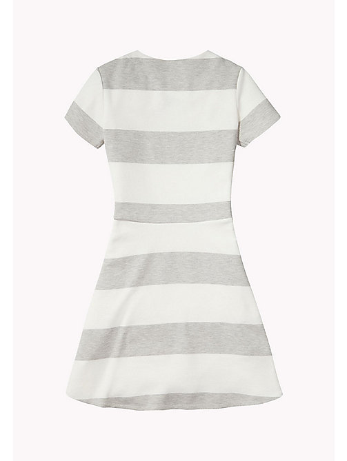 TOMMY HILFIGER Block Stripe Dress - LIGHT GREY HTR - TOMMY HILFIGER Girls - detail image 1