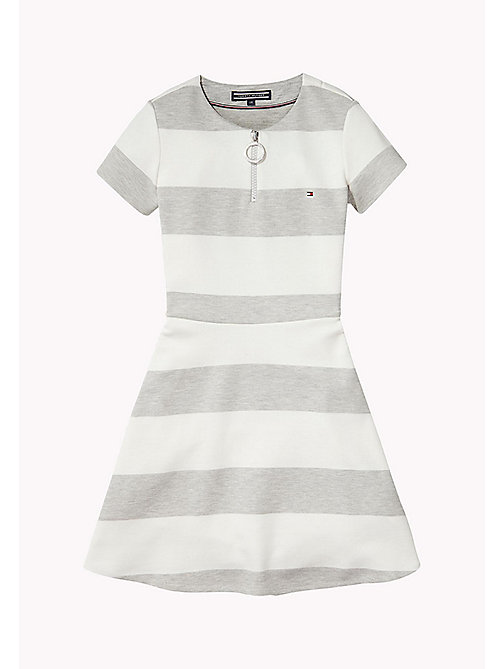 TOMMY HILFIGER Block Stripe Dress - LIGHT GREY HTR - TOMMY HILFIGER Girls - main image
