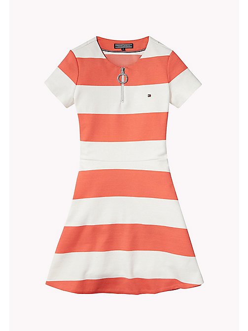 TOMMY HILFIGER Block Stripe Dress - SPICED CORAL - TOMMY HILFIGER Dresses - detail image 1