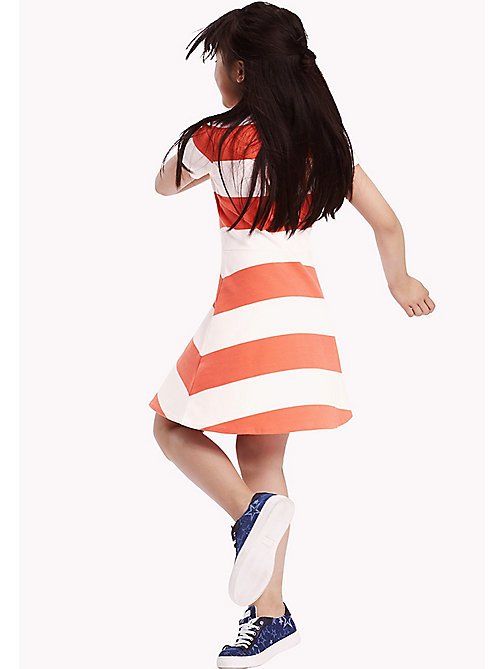 TOMMY HILFIGER Block Stripe Dress - SPICED CORAL - TOMMY HILFIGER Dresses - main image