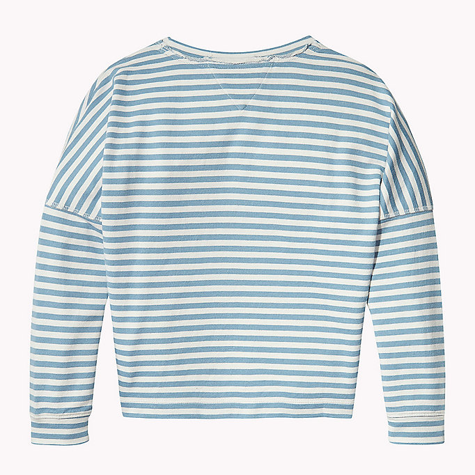 TOMMY HILFIGER Long Sleeve Stripe Jumper - SPICED CORAL - TOMMY HILFIGER Kids - detail image 1