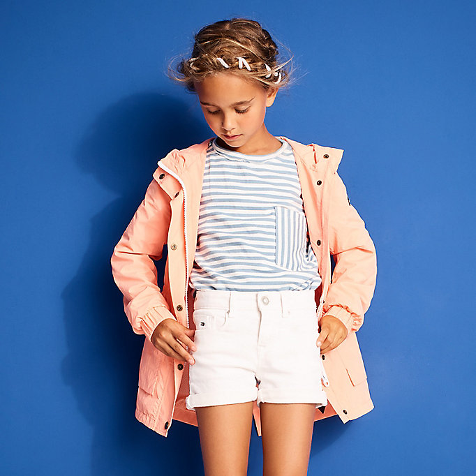 TOMMY HILFIGER Long Sleeve Stripe Jumper - SPICED CORAL - TOMMY HILFIGER Kids - detail image 2