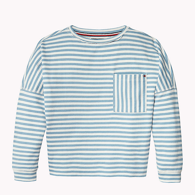 TOMMY HILFIGER Long Sleeve Stripe Jumper - SPICED CORAL - TOMMY HILFIGER Kids - main image