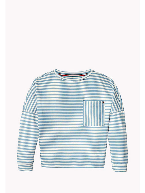 TOMMY HILFIGER Long Sleeve Stripe Jumper - ALLURE - TOMMY HILFIGER Sweatshirts & Hoodies - main image