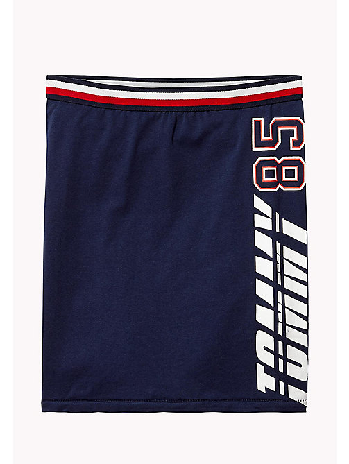 TOMMY HILFIGER Jersey Knit Logo Skirt - BLACK IRIS - TOMMY HILFIGER Trousers, Shorts & Skirts - main image