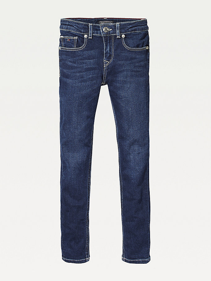 denim dark wash skinny jeans for girls tommy hilfiger
