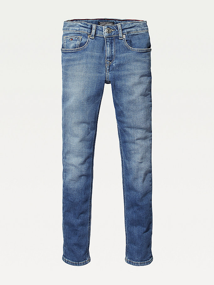 denim faded skinny jeans for girls tommy hilfiger