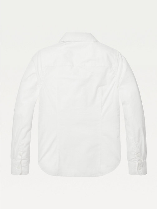 TOMMY HILFIGER Organic Cotton Poplin Shirt - BRIGHT WHITE - TOMMY HILFIGER Tops & T-shirts - detail image 1