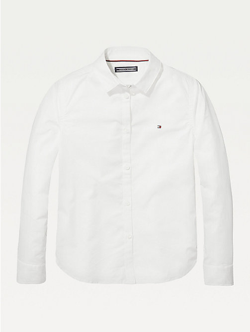 TOMMY HILFIGER Organic Cotton Poplin Shirt - BRIGHT WHITE - TOMMY HILFIGER Tops & T-shirts - main image