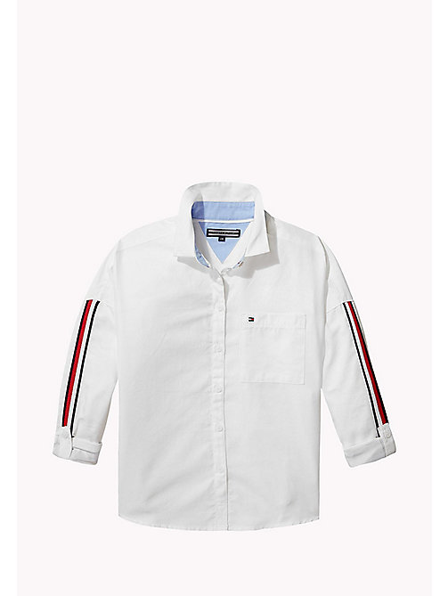 TOMMY HILFIGER Signature Tape Detail Shirt - BRIGHT WHITE -  Tops & T-shirts - detail image 1