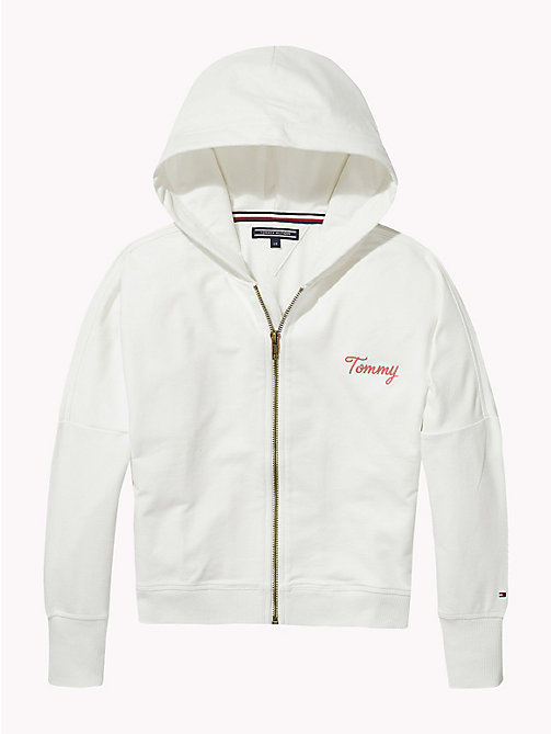 TOMMY HILFIGER Desert Zip Hoody - BRIGHT WHITE - TOMMY HILFIGER Girls - detail image 1