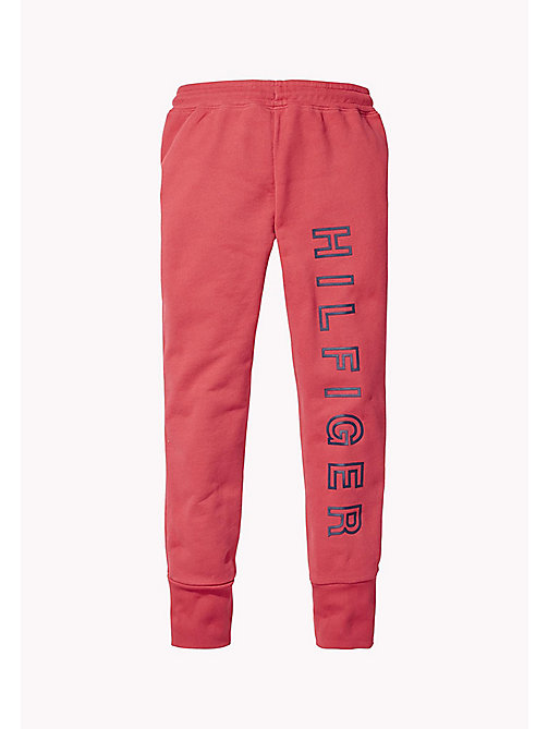 TOMMY HILFIGER Logo Joggers - RASPBERRY WINE - TOMMY HILFIGER Trousers, Shorts & Skirts - detail image 1