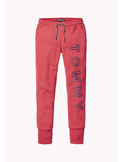 TOMMY HILFIGER Logo Joggers - RASPBERRY WINE - TOMMY HILFIGER Trousers, Shorts & Skirts - main image
